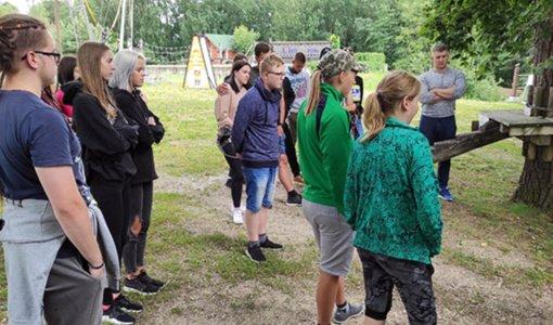 """Vasarą Šeduvos atvirojo jaunimo centro """"Jaunimo erdvė"""" lankytojai nenuobodžiauja"""