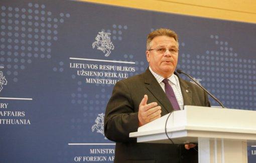 L. Linkevičius: būtinos ES sankcijos už smurtą ir suklastotus rinkimus atsakingiems Baltarusijos pareigūnams