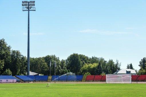 """Rekonstruojamas Panevėžio miesto """"Aukštaitijos"""" stadionas"""