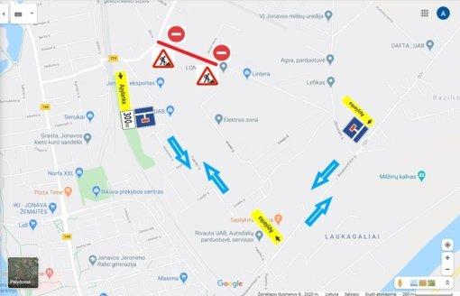 Dvi dienas bus uždaryta dalis Ukmergės gatvės