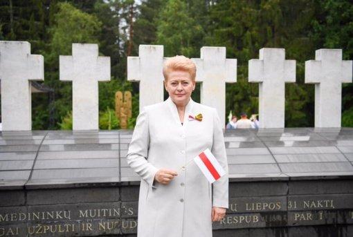 """D. Grybauskaitė: """"Pasaulis nebegali žaisti dvigubų žaidimų su A. Lukašenkos režimu"""""""