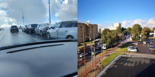 Šiauliuose susidūrė keturi automobiliai: susidarė spūstys