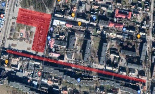 Laikinai bus ribojamas eismas Kretingos centre
