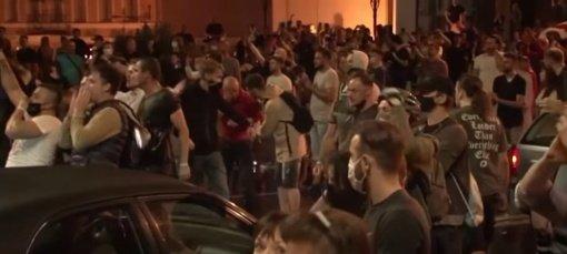 Baltarusijos VRM: per protestą Minske jau sulaikyti 125 žmonės