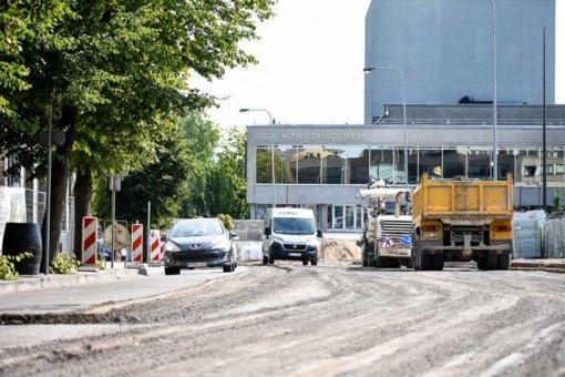 Toliau tvarkomas Panevėžio centras: statybos darbų vertė – 1 mln. eurų
