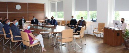 Civilinėse bendrovės pratybose aptarti veiksmai dėl epidemijos plitimo grėsmės