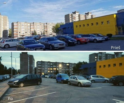 Tvarkingas ir patogus parkavimas Mokolų mikrorajone