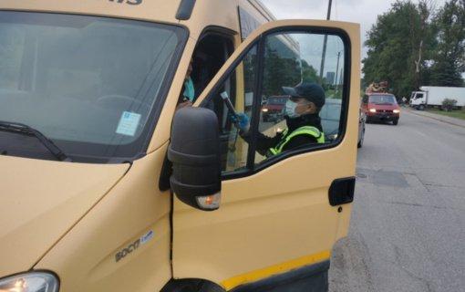 Pareigūnų dėmesys – mokyklinių autobusų kontrolei