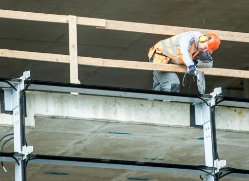 Statybos per metus brango 1 procentu