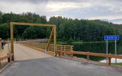 Baigtas Asvejos medinio tilto remontas