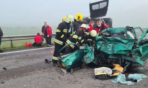 Dvi gyvybes nusinešusioje avarijoje nukentėjo ir keturi ukrainiečiai
