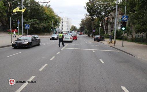 Vilniuje susidūrus automobiliams nukentėjo vieno jų vairuotoja