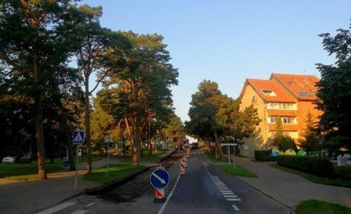 Taikos gatvės rekonstrukcija pasiekė Nidos centrinę dalį