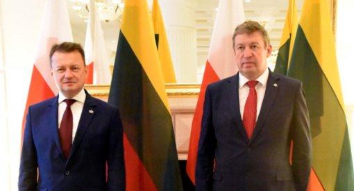 Lietuvos ir Lenkijos gynybos ministrai aptarė Suvalkų koridoriaus apginamumą