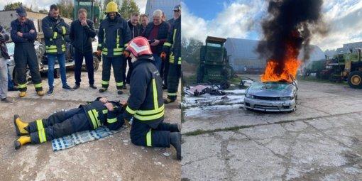 Šilalės priešgaisrinėje gelbėjimo tarnyboje vyko mokymai