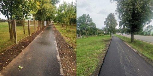 Tauragėje atnaujinti pėsčiųjų ir dviračių takai