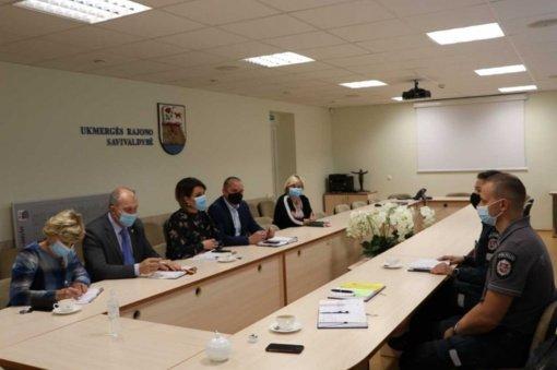 Savivaldybės vadovai susitiko su policijos pareigūnais