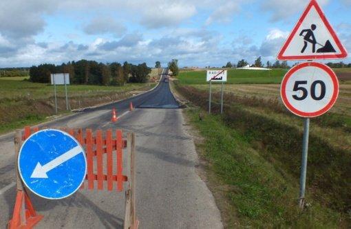Nuo Kaltinėnų iki Jaunodavos – asfaltuotas kelias