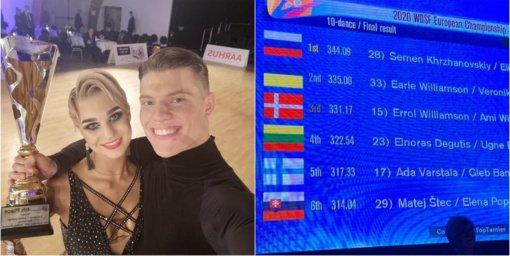 Netikėtas pasiekimas: Lietuvos šokėjų pora – Europos čempionato finalininkai