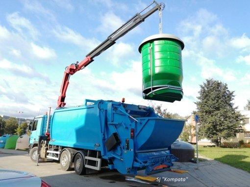 Pradėti eksploatuoti požeminiai konteineriai