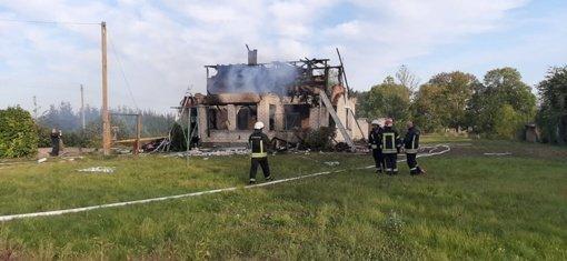 Name Radviliškio rajone sprogus dujų balionui nukentėjo vienas žmogus