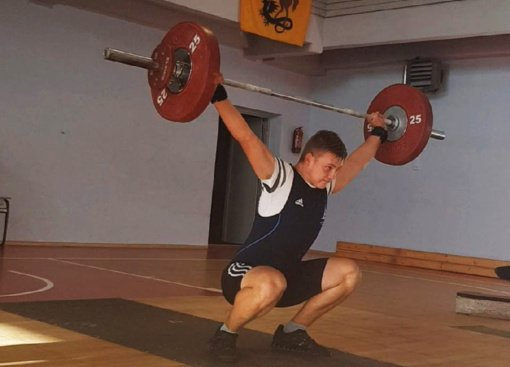 R. Sargūno sporto gimnazijos sunkiaatletis iškovojo aukso medalį