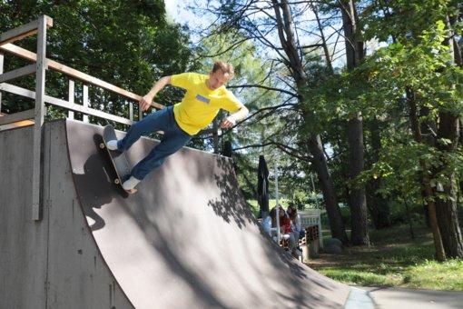 """Ekstremalaus sporto festivalis """"Birštono Skate'n'Roll"""" pritraukė susidomėjusių birštoniečių ir svečių iš kitų miestų"""