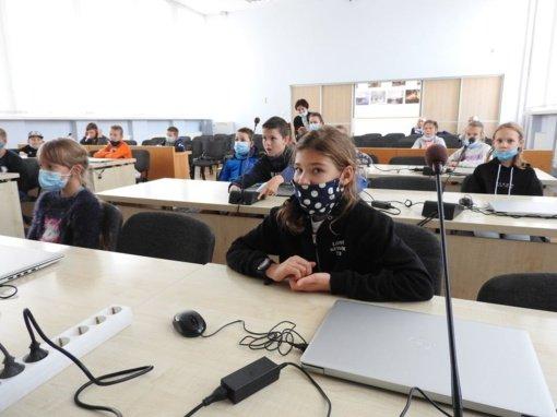 Savivaldybėje svečiavosi Ignalinos Česlovo Kudabos progimnazijos ketvirtokai