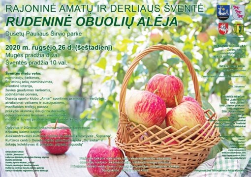 """Kviečia amatų ir derliaus šventė """"Rudeninė obuolių alėja"""""""