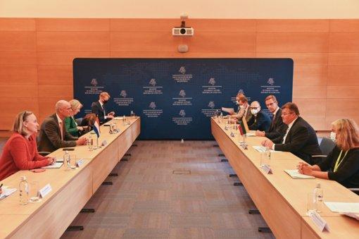 L. Linkevičius susitiko su Nyderlandų užsienio reikalų ministru