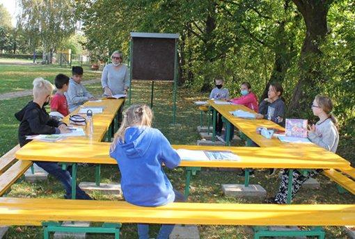 Lauko klasė – sveikam pociūnėliečių ugdymui