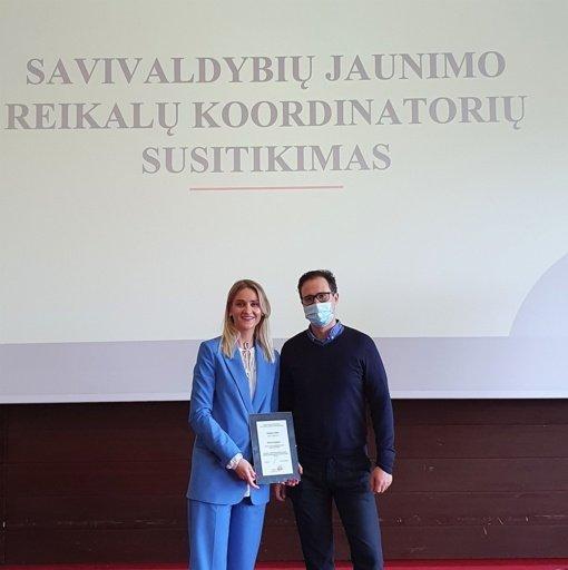 Įvertinta Varėnos rajono savivaldybės jaunimo reikalų koordinatorė