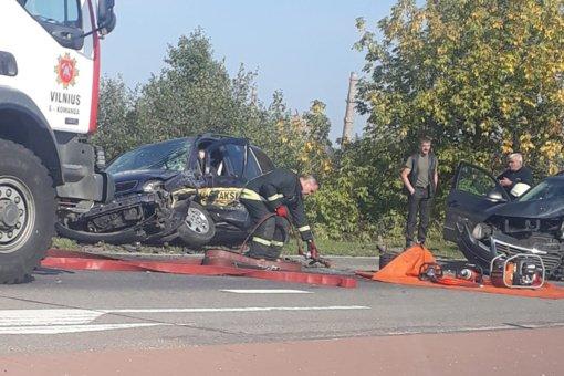Vilniuje per avariją nukentėjo trys žmonės