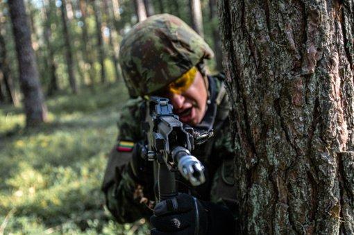 Pirmosios parengtojo rezervo karių pratybos Juozo Vitkaus inžinerijos batalione