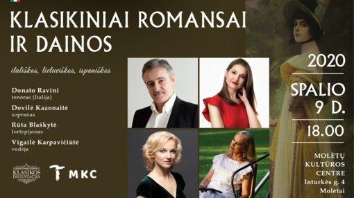 Molėtų kultūros centro salė prisipildys klasikinės muzikos stebuklų