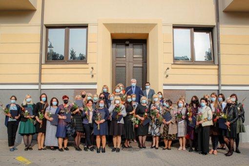 Pasveikinti Klaipėdos miesto socialiniai darbuotojai