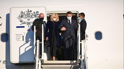Akimirkos iš E. Macrono vizito prezidentūroje (nuolat pildoma)