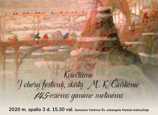 Chorų festivalis M. K. Čiurlioniui nusilenkti Senojoje Varėnoje