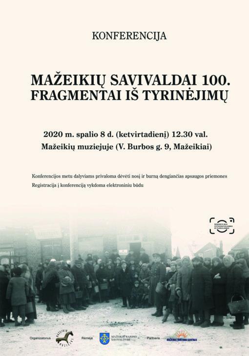 """Konferencija """"Mažeikių savivaldai 100. Fragmentai iš tyrinėjimų"""""""
