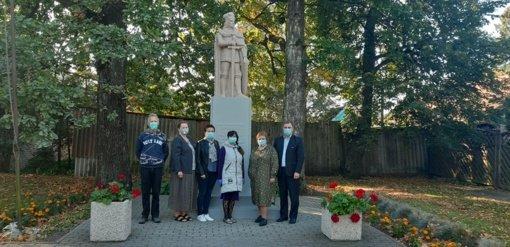 Atnaujintas Vytauto Didžiojo paminklas Pajevonyje