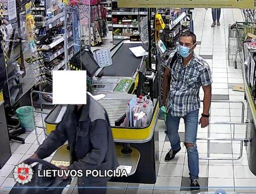 Pareigūnai prašo visuomenės pagalbos nustatant vaizdo kamerų užfiksuoto vyro tapatybę