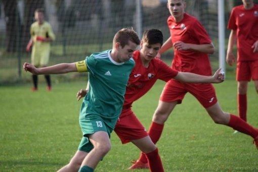 """Kazlų Rūdos SC """"Šilo"""" U-16 futbolininkai nukovė Marijampolės """"Sūduvos"""" bendraamžius"""