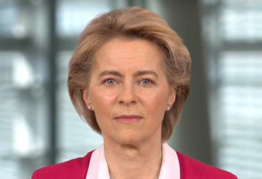 EK vadovė U. von der Leyen izoliuojasi po kontakto su užsikrėtusiu asmeniu