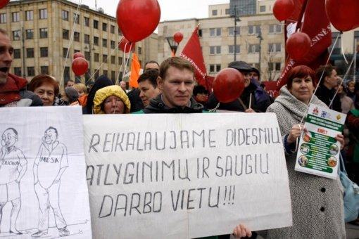 Profesinės sąjungos dėl MMA kėlimo rengs protesto akciją