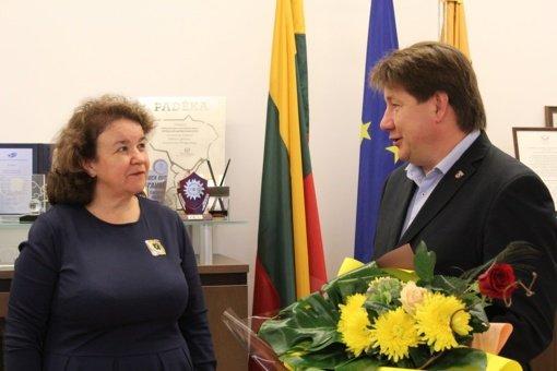 Akmenės savivaldybėje pagerbta mokytoja Vaidilutė Šepkauskienė