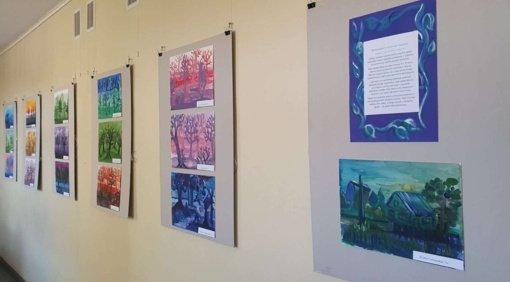 """Trakų viešosios bibliotekos Vaikų literatūros skyriuje paroda """"Kontrastas ir niuansas tapyboje"""""""