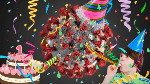 Kviečia švęsti koronaviruso gimtadienį: vakarėlį planuoja internete