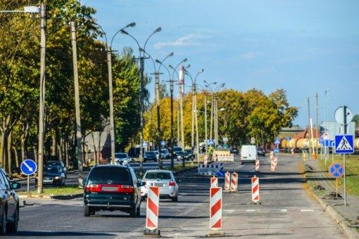 Panevėžyje intensyviai vykdomi gatvių remonto darbai