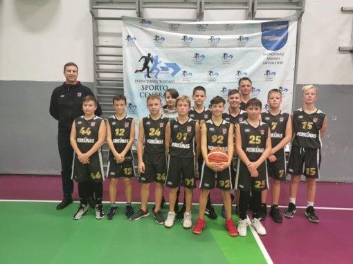 """Sėkmingas """"Švenčionių SC"""" startas Lietuvos moksleivių krepšinio lygos U14 berniukų čempionate"""