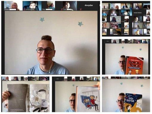 Vyko virtualus susitikimas su vaikų rašytoju Tomu Dirgėla